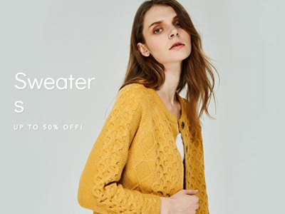 Upto 50% Off Sweaters Collection