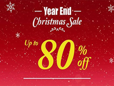 Year End Christmas Sale Up To 80% Off