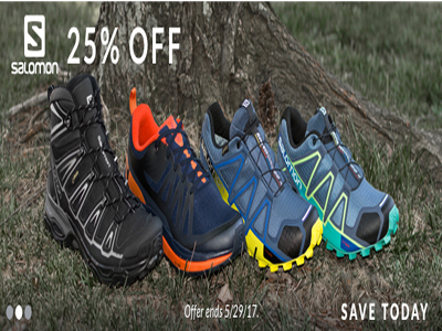 25% Off On Salomon Shoes