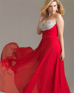 Red Plus Size Girl Dressing