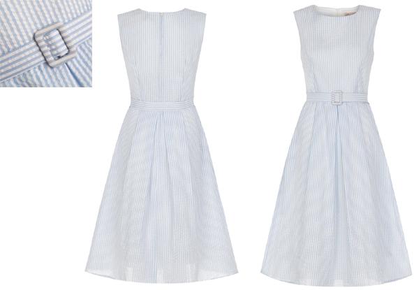 3cc2ea99ff  Colette  Blue Stripe 60 s Jackie O Dress for  14.24. White and Blue Stripe  Vintage Dress