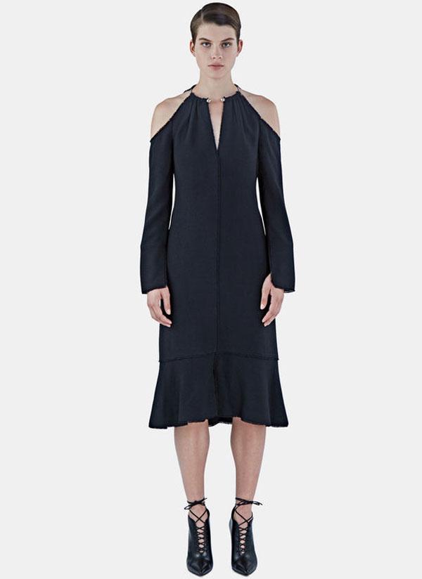 women's cut-out shoulder choker dress