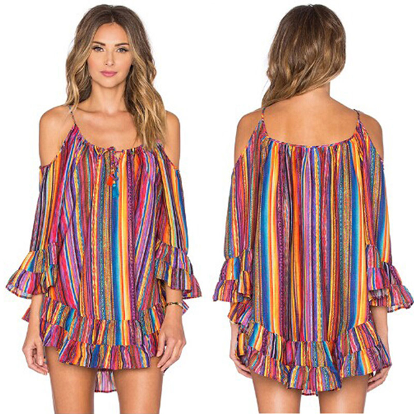 womens summer beach shirt Mini dress
