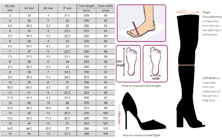 FSJShoes Size Chart Review