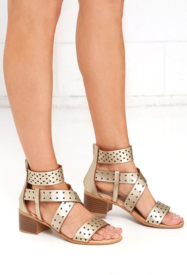 lulu*s fancy strap flats