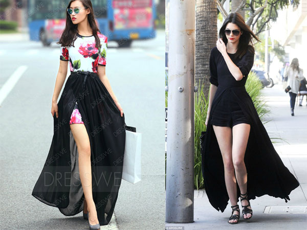 Kendall Jenner Black Caped Playsuit Sass Dress