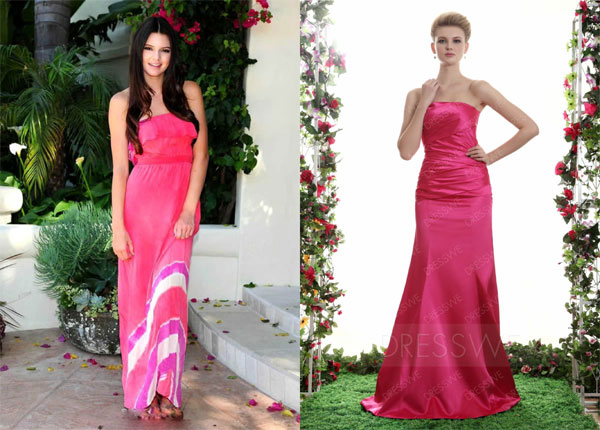 Dresswe Pink Long Dress Form Women