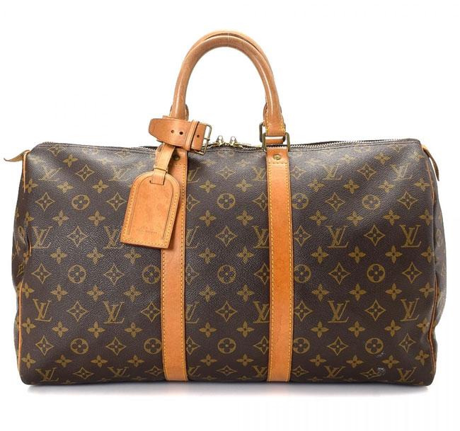 Louis Vuitton Keepall 45 Brown Bag