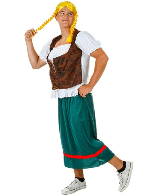 Odd Helga Brave Girl Man Funny Costume