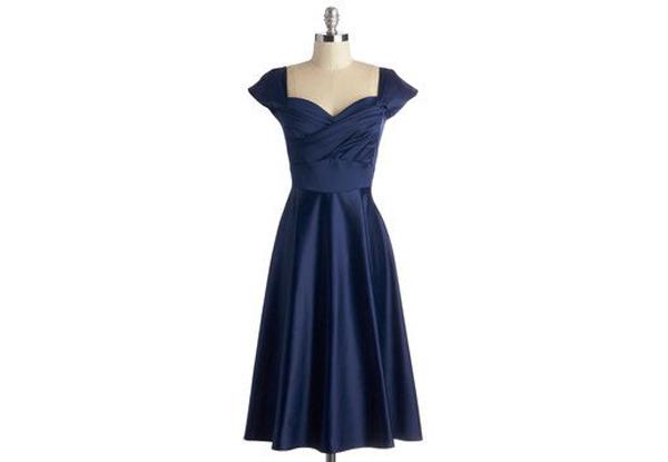 Vintage Blue Dress For Events