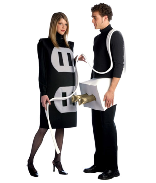 Couple Plug & Socket Funny Costume