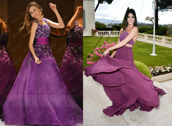 Show-Off Gown Purple Floor-length Dress