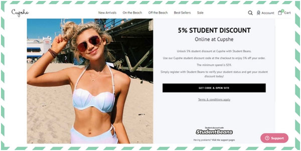 Student Discounts at Cupshe