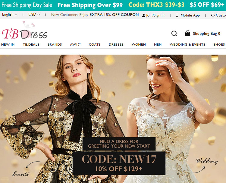 TBDRESS Review Store Event Dresses