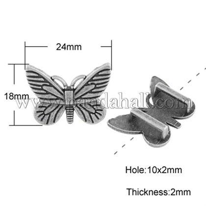 Tibetan Style Butterfly Bolo Tie