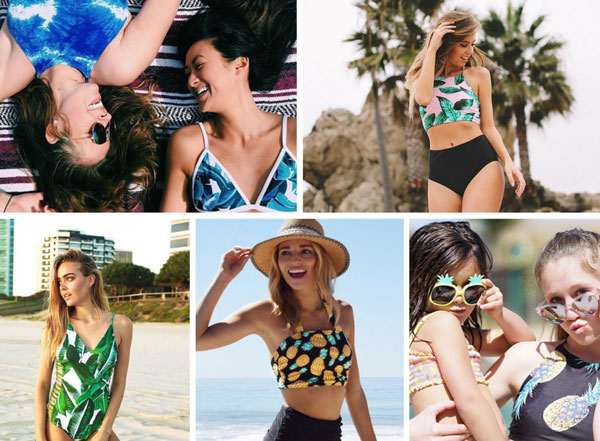 Trendy Stylish Women on Beach