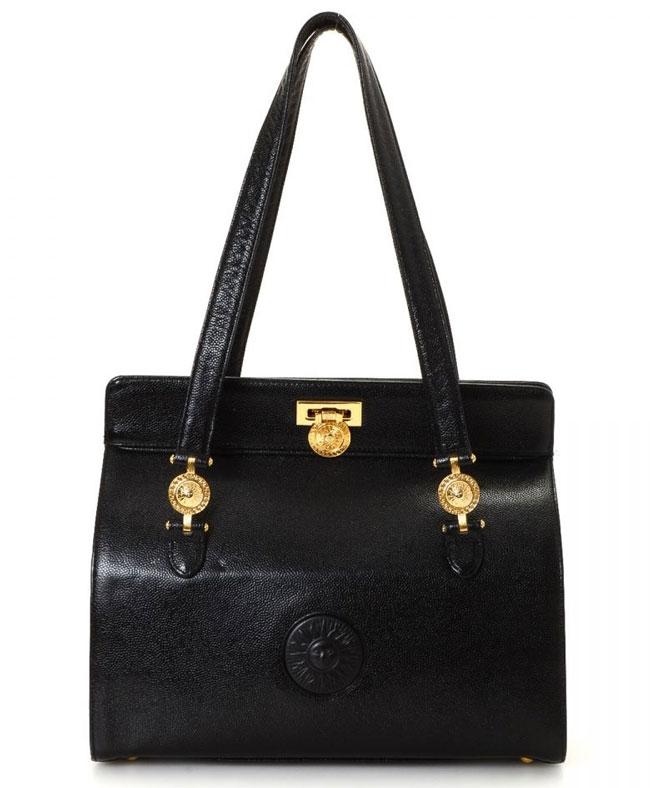 Versace Sun Shoulder Bag Black
