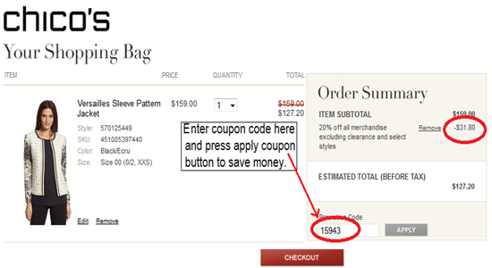 Chicos free shipping code