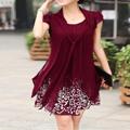 Ericdress Print Short Sleeve Straight Casual Dress