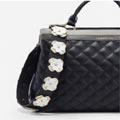 Rebel Black Floral Detachable Shoulder Strap