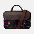 Tartan And Wax Briefcase