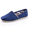 Women's Lovers' Shoes Canvas Flat Heel Comfort Loafers