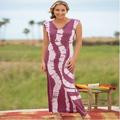 Women's Tie-Dyed Knit Maxi Dress