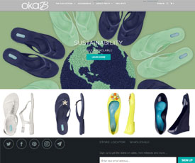 OKA b. is a shoe retailer that sells footwear that specifically combines both fashion and comfort. The store sells shoes, sandals, flip flops and more and each style not only looks great and is affordable, but is also recommended by podiatrists, is odor resistant, environmentally conscious and machine washable!87%(8).