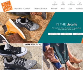 Rack Room Shoes is the online shoe store for the entire family. Shop for comfort, dress, casual, and athletic shoes from recognized brands. Buy stylish, high quality shoes at great prices from the brand that has been an innovator in the shoe industry for more than 80 years.