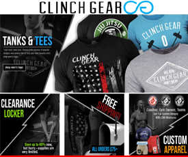 Clinch Gear offers free shipping on US orders over $50 - no coupon needed. Watch the banner ads on the Clinch Gear homepage to find promotional pricing on featured items. You can also sign up for the Clinch Gear email list to have special offers and coupons sent to your inbox as they become available. Additional offers and coupon codes from.