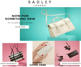 For Radley we currently have 6 coupons and 0 deals. Our users can save with our coupons on average about $Todays best offer is Save 25% Off w/ Discount fasttoronto9rr.cf you can't find a coupon or a deal for you product then sign up for alerts and you will get updates on every new coupon added for Radley.