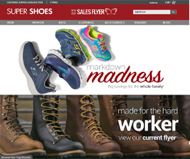 Super Shoes locations feature over brands of shoes, boots, accessories, handbags, workwear, and nursing apparel. Super Shoes is a shoe store with something for everyone in the family! With locations in ME, NH, VT, NY, PA, MD, VA, and WV, Super Shoes is one of the best in the region.