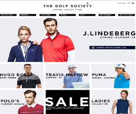 The Golf Society Discount Code website view The Golf Society is an online retailer that specializes in golf apparel and accessories. Based in Australia, they aim to provide the latest fashion or golf collections from the world's best brands, provide game changing, innovative .